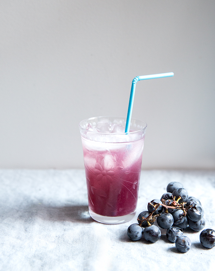 concord grape + coconut water smash | what's cooking good looking