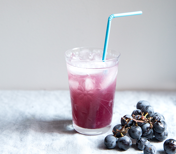 CONCORD GRAPE + COCONUT WATER SMASH