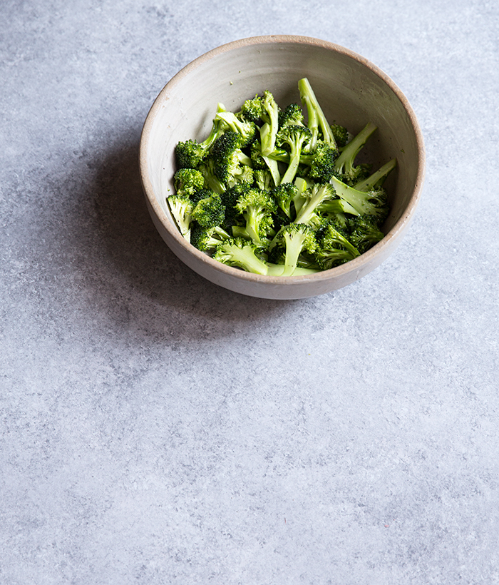 charred broccoli salad + shallot confit + quick pickled red chilies | what's cooking good looking