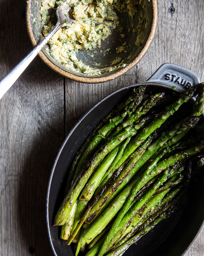 asparagus + fava beans + wild garlic miso butter | what's cooking good looking
