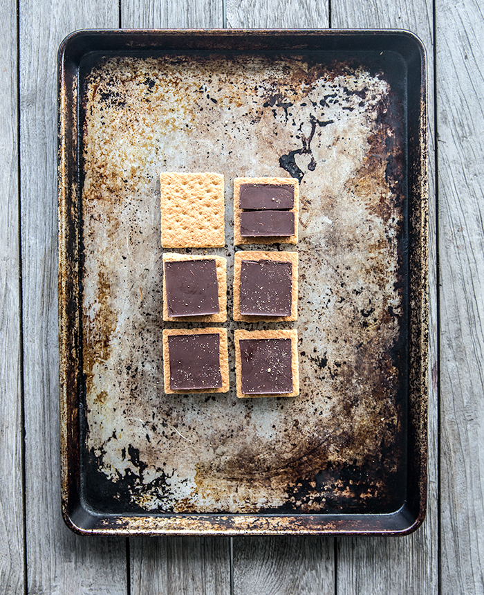 grilled open-faced s'mores ice cream sandwiches | what's cooking good looking