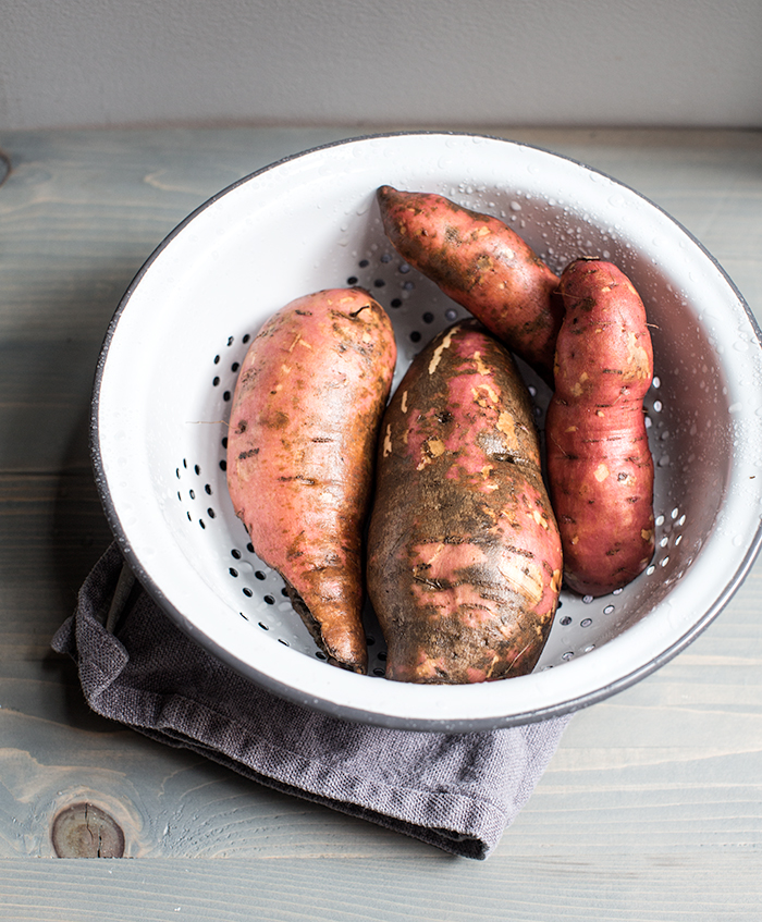 grilled sweet potato stuffed with bbq baked beans + cilantro yogurt | what's cooking good looking
