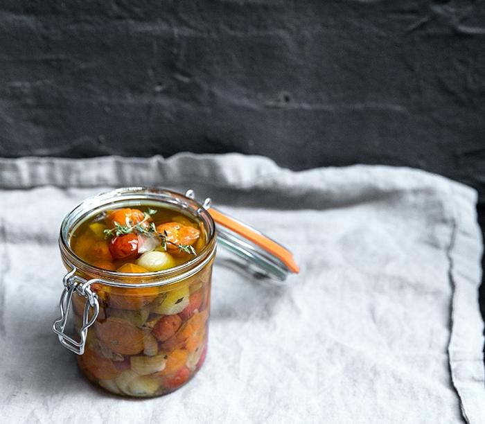 cherry tomato + shallot confit