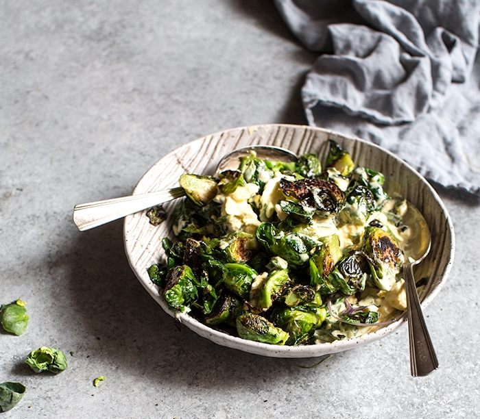 deviled brussels sprout salad