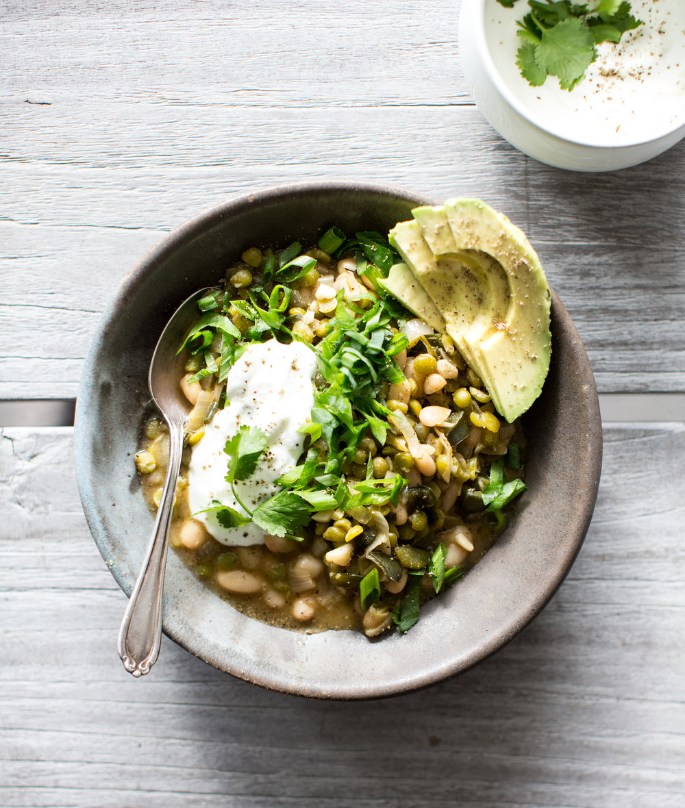 split pea + white bean chili | what's cooking good looking