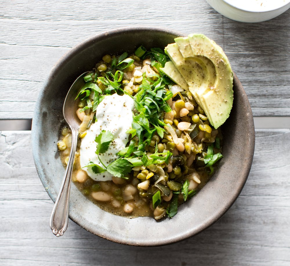 SPLIT PEA + WHITE BEAN CHILI