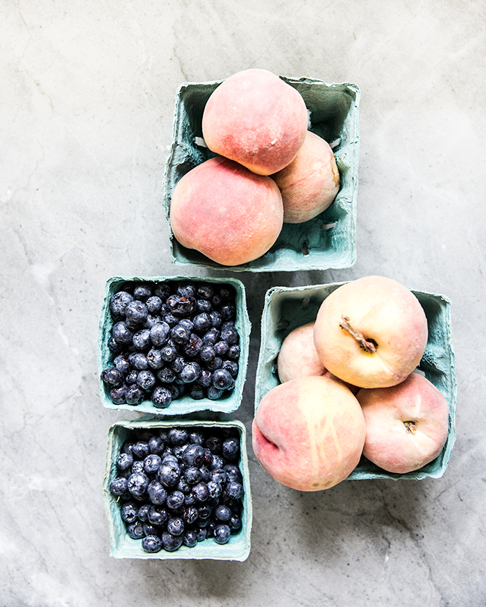 peach + blueberry + polenta crisp | what's cooking good looking