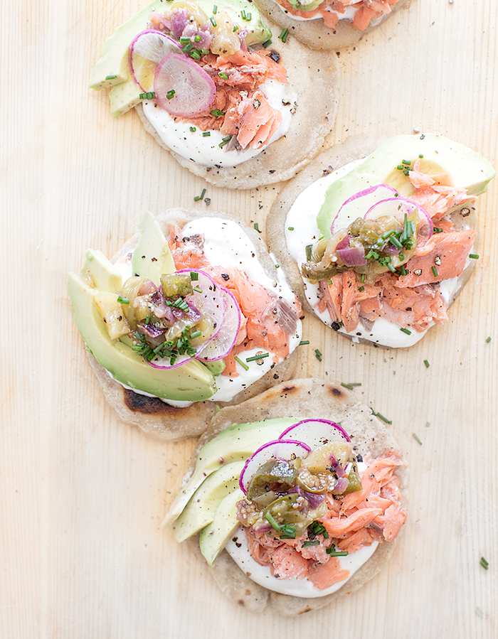 salmon tostada | what's cooking good looking