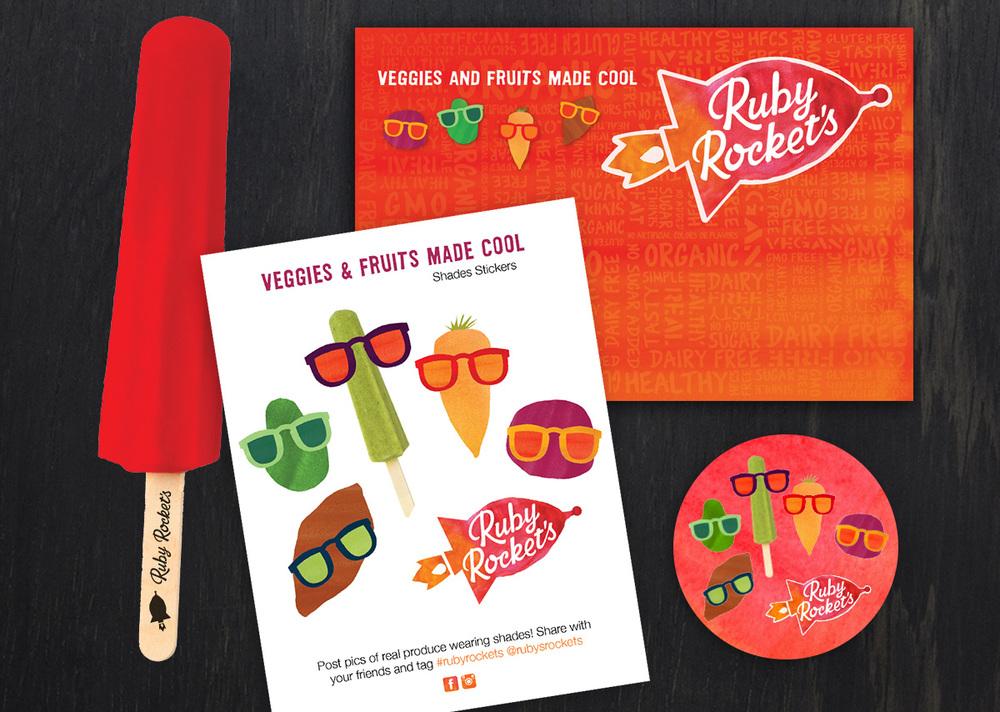Sticker campaign, trade show materials