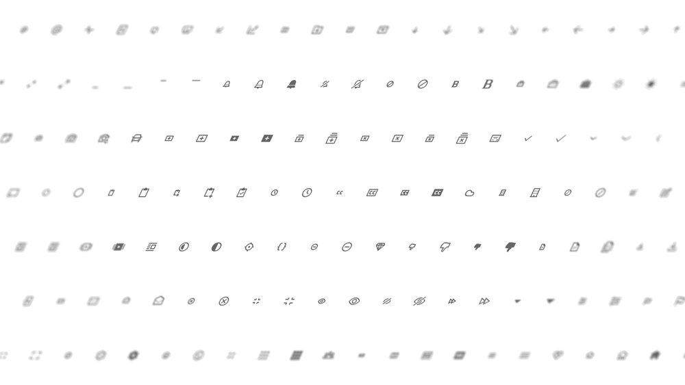 Over 400 icons - Balancing a system of over 400 UI icons requires not only effort to create, but also to maintain. For each icon that exists, I need to develop guidelines and best practices for usage within our many products.