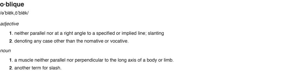ObliqueDefinition