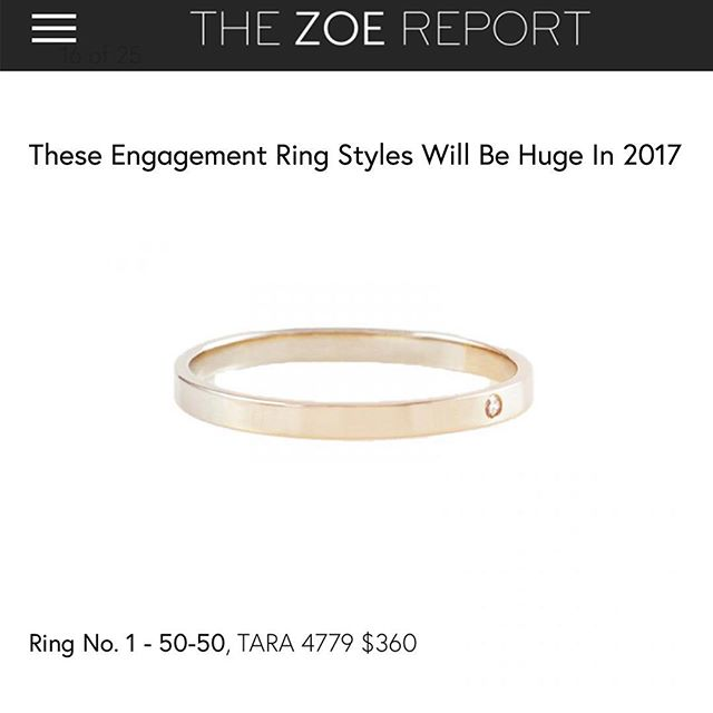 Happy New Year! 💫 The 50-50 Percentage ring featured on @thezoereport ⭐️ The ring represents balance, commitment and love. It makes a perfect wedding band. ❤️ #tara4779 #consciousluxury #love #weddingband #engagement #zoereport #minimal #finejewelry #madeinny #2017 #commitment