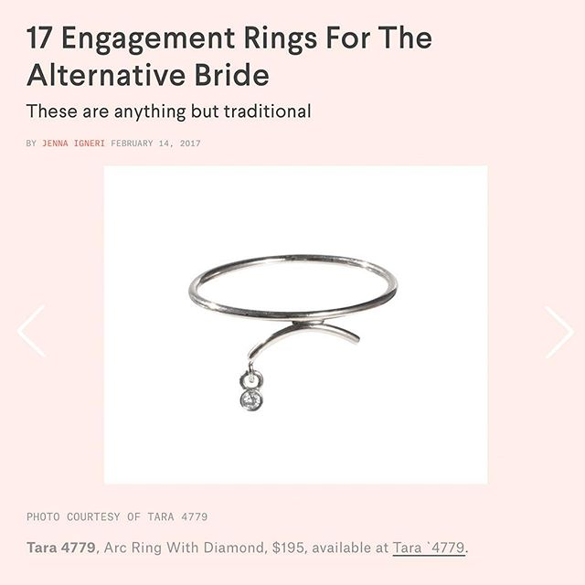 The Arc ring listed on @nylonmag as perfect option for an alternative engagement ring. 💎💕 #nylon #nylonmag #arc #calder #alternative #engagement #ring #gold #silver #diamond