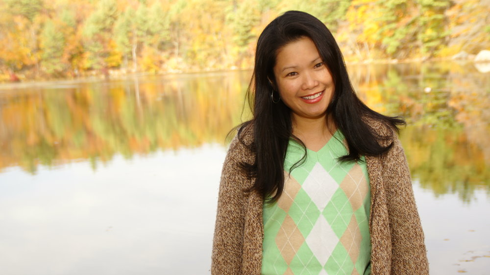Anna with New England foliage.JPG