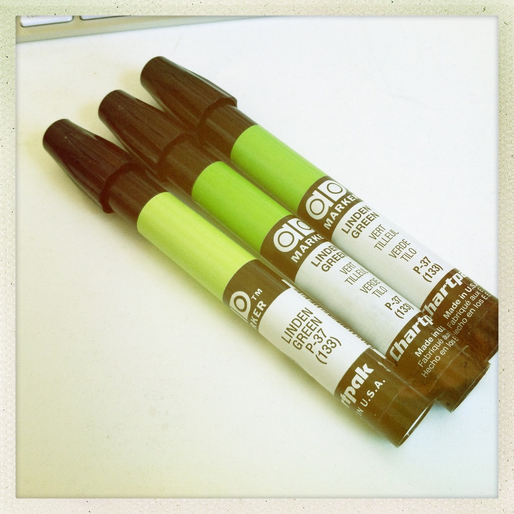 Linden Green Chartpak markers