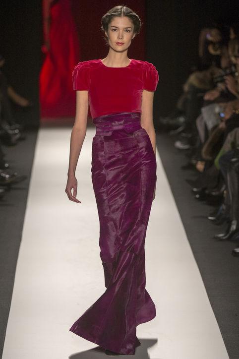 Carolina Herrera hourglass gown Photo: Glamour Magazine, February 2013