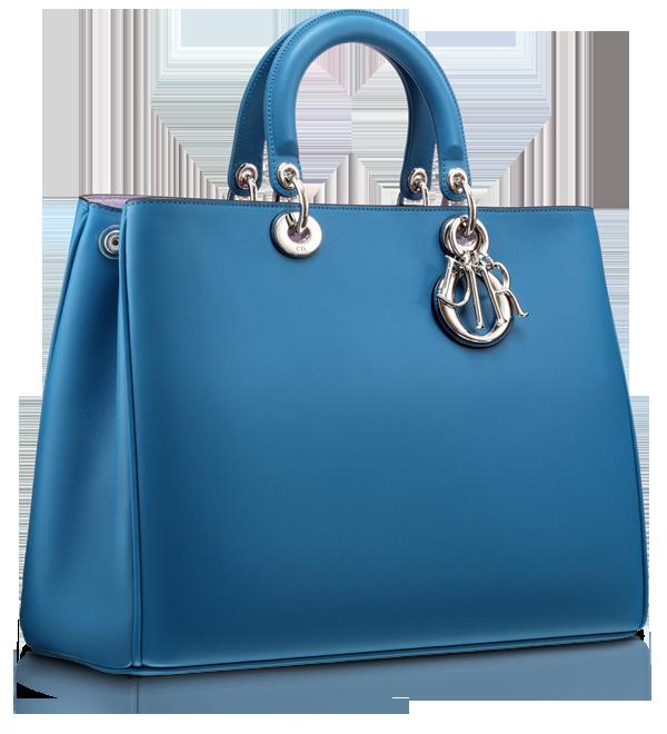 Diorissimo Mykonos Blue leather bag Photo: Dior