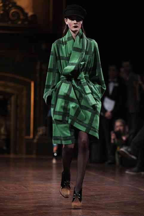 Vivienne Westwood emerald coat Photo: Glamour Magazine, February 2013