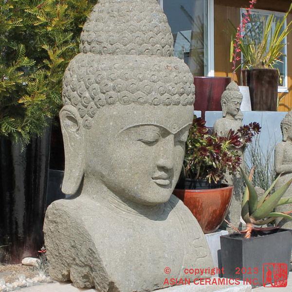 Stone Buddha sculpture Photo: Asian Ceramics Inc
