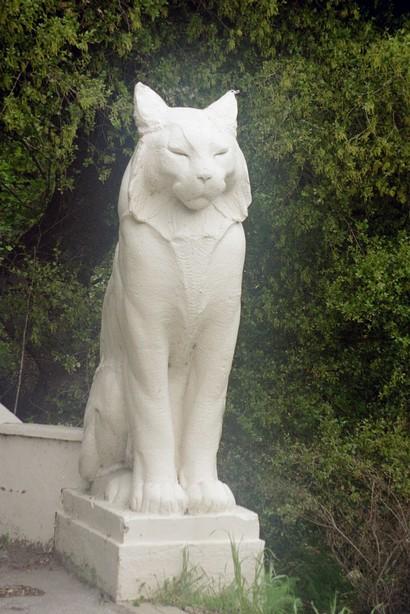 Los Gatos cat statue Photo: City-data.gov