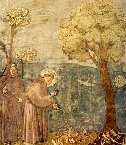 Legend of Saint Francis 15: Sermon to the Birds, Giotto (c.1297-99)   Photo: JarektuploadBot
