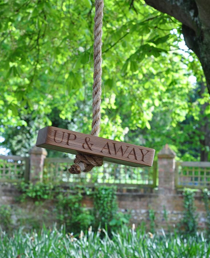 'Up & Away' Oak And Rope Swing Photo: Not on the High Street