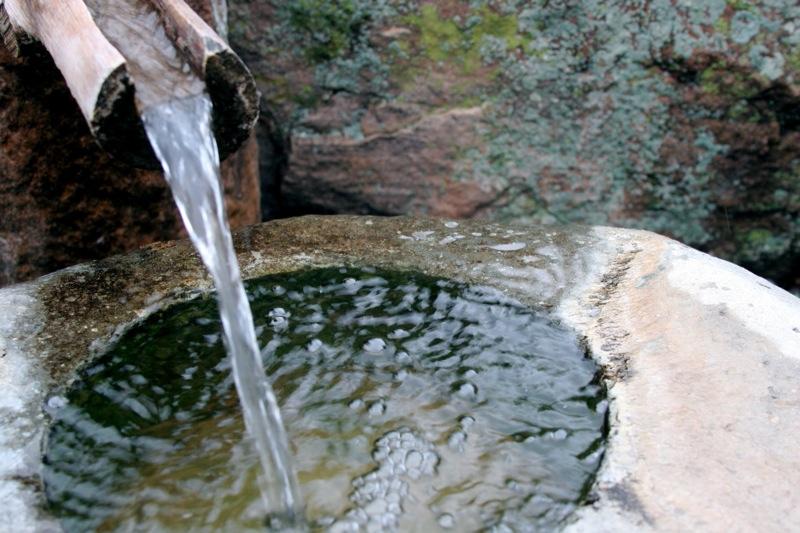 Water fountain, Upaya Zen Center, New Mexico   Photo: Ottmar Liebert