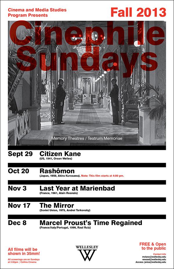 - Cinephile SundaysFall 2013