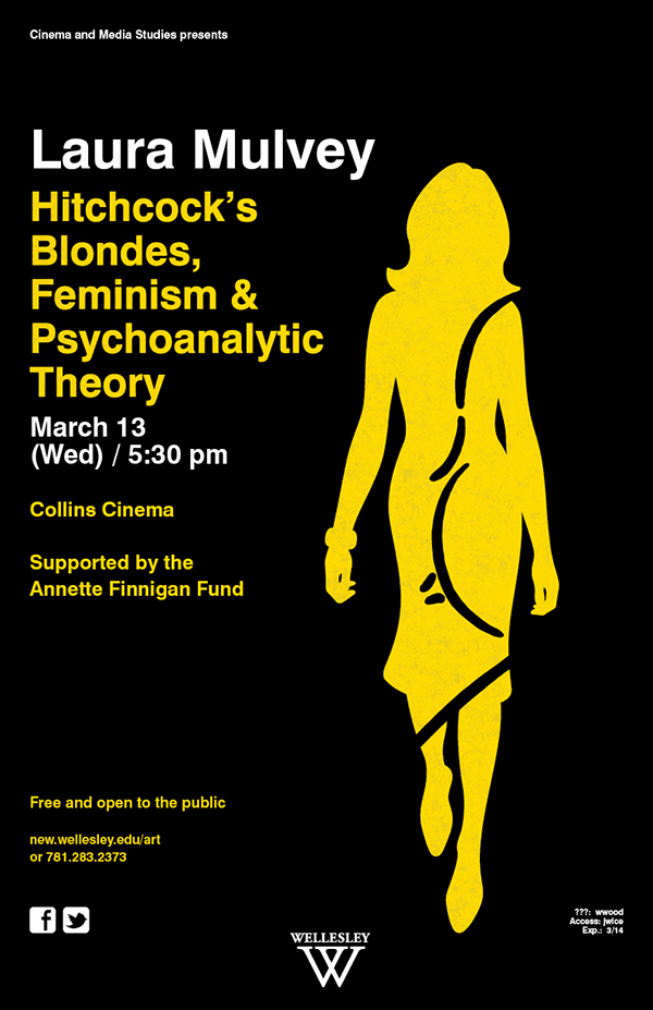 - Laura MulveyHitchcock's Blondes, Feminism &Psychoanalytic Theory