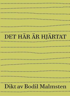 """""""Det här är hjärtat är en kärleksdikt, en sorgedikt, en dikt när den orimliga förlust som kallas döden drabbar, den drabbar alla, den drabbade mig. Jag skriver inte dikter längre, men den här dikten krävde att jag skrev den."""" /Bodil Malmsten i mars 2015"""