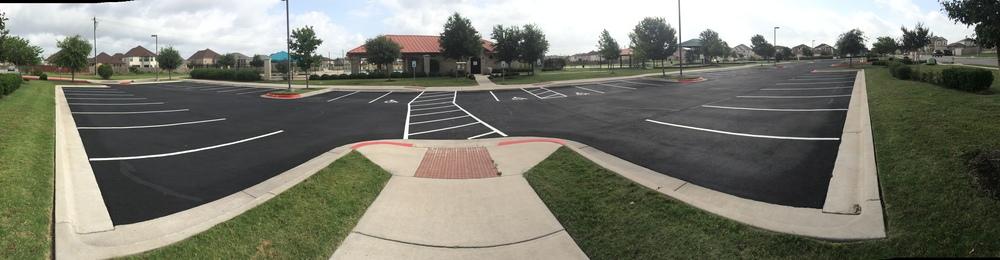 New parking lot!