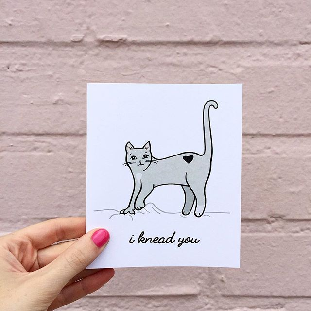 Meow and Purrrever 🖤 • • Email or shop for wholesale orders! • • #ivyandink #cat #stationery #card #catcard #paperlove #papergoods #maker #makersgonnamake #makersmovement #illustration #design #love #puns #anniversarycard #friendship #meow #valentinesday #anniversary #bff
