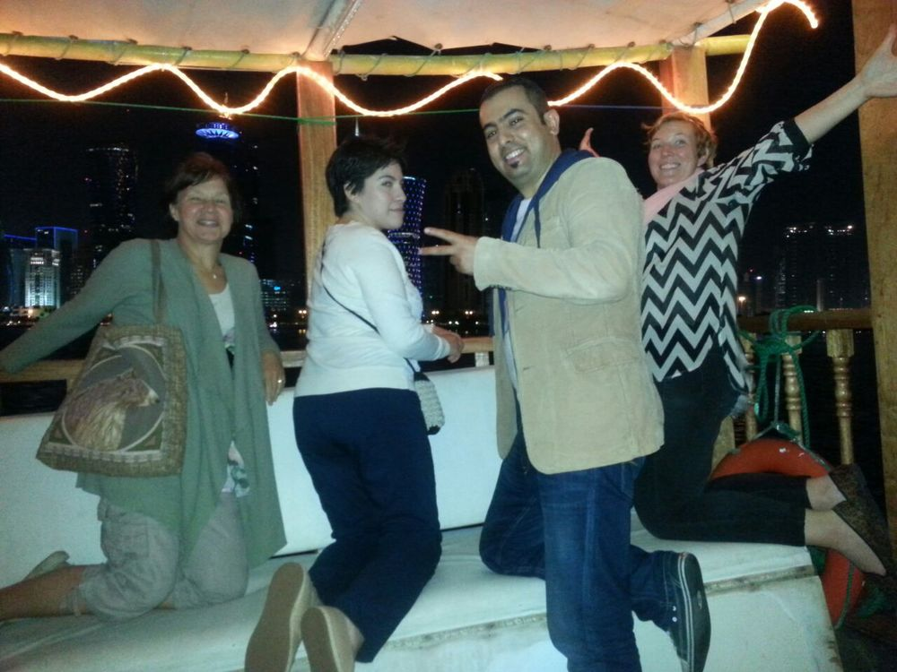 Friends and myself on an impromptu Dhow ride.