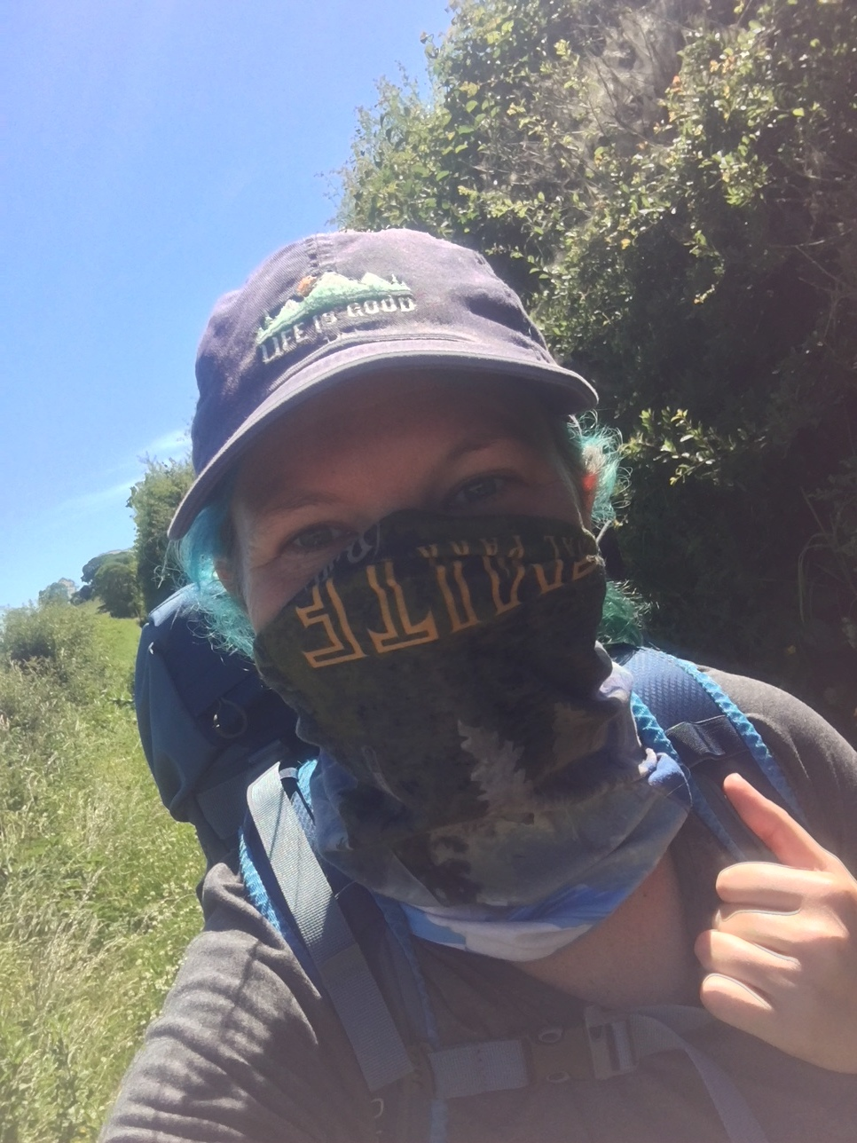 The super useful Buff. You can see that mine is a National Park series. I mostly use it to keep the sun off my neck but I also use it to push my hair back, use as a face cover to protect myself from bugs and dust and about one thousand other things. Get yourself a Buff!