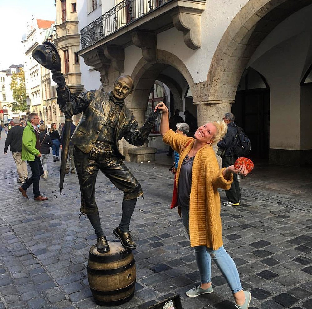 just me & a dancing statue. Germany, 2018.