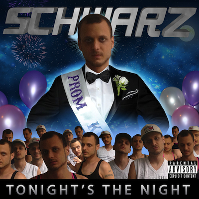 "TZ011 SCHWARZ ""TONIGHT'S THE NIGHT"" DIGITAL SINGLE UNLIMITED EDITION NOTES: THE NEW GROUNDBREAKING DANCE SINGLE FROM BALTIMORE LEGEND SCHWARZ. INSPIRATIONAL AMERICAN POP. FOR FANS OF ANDREW WK, FATMAN SCOOP, CHICAGO BOP AND HARDSTYLE. NO ONE ELSE WAS DOING IT SO SCHWARZ HAD NO CHOICE. DON'T BE AFRAID. COVER BY 333 BOYZ. DOWNLOAD (ITUNES) DOWNLOAD (BANDCAMP) VIDEO"