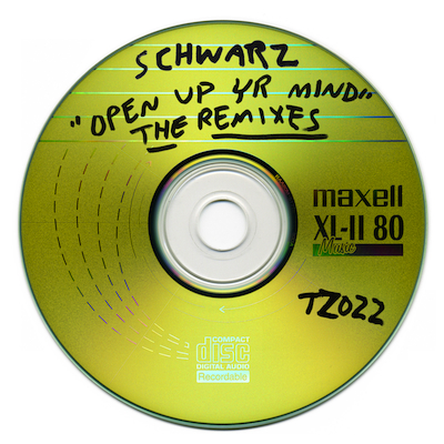"TZ022 SCHWARZ ""OPEN UP YR MIND - THE REMIXES"" DIGITAL EP UNLIMITED EDITION NOTES: REMIX PACK FROM THE ULTIMATE MOTIVATIONAL CLUB SPEAKER - SCHWARZ. FEATURING MEMPHIS RAP LEGEND LA CHAT, TT THE ARTIST, 333 BOYZ, MIKE G, DJ GEORGE COSTANZA AND BYRELL THE GREAT. MAXED OUT MODERN AMERICAN DANCE MUSIC. COVER BY JACOB CIOCCI. DOWNLOAD"