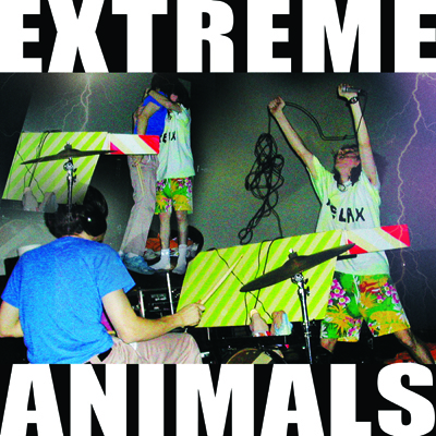 """TZ043 EXTREME ANIMALS """"THIS MUSIC DOES NOT APOLOGIZE: 2002-2008"""" DIGITAL/CASSETTE ANTHOLOGY NOTES:ANTHOLOGY OF MUSIC MADE BETWEEN 2002 AND 2008 BY THIS SEMINAL DUO, PART OF THE PAPER RAD MUSIC AND ART COLLECTIVE. DEFINITIVE 2K'S ERA AMERICAN FREAKOUT STYLES, STILL UNRIVALED IN IT'S SINGULAR MADNESS. ELEMENTS OF EAST COAST NOISE MUSIC, POP-TRANCE, CRUNK AND EXPERIMENTAL ELECTRONICA MERGE INTO ONE INSANE WHOLE. COMES WITH FULL COLOR 6 PANEL COLLAGE FOLDOUT INSERT. CRUCIAL. BUY CASSETTE DOWNLOAD (BANDCAMP) DOWNLOAD (ITUNES)"""