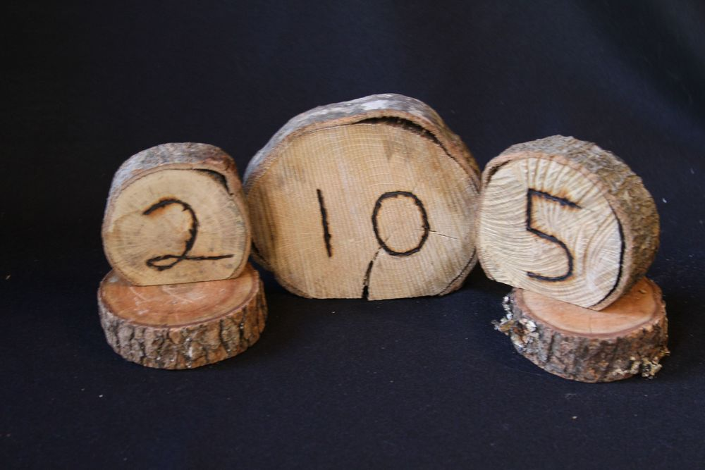 Wood ,  Table Numbers