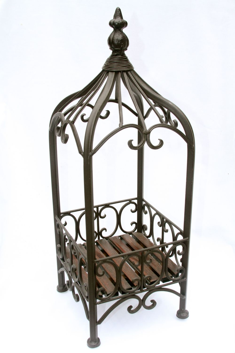 Open Wrought Iron Basket
