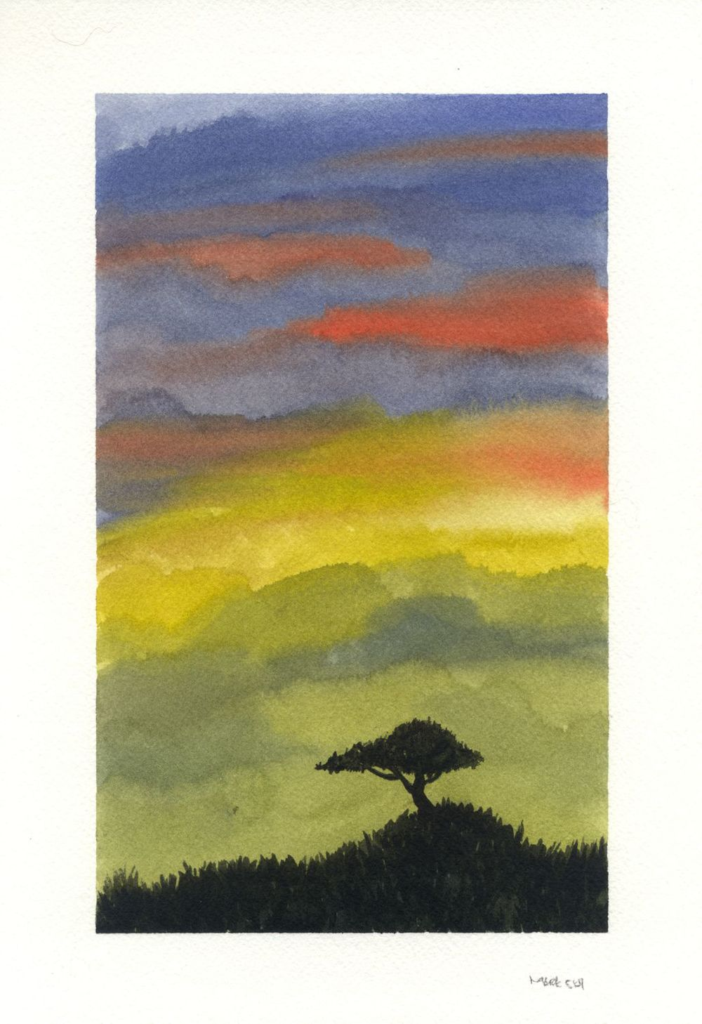 Lonely Tree #2 (Sunset)