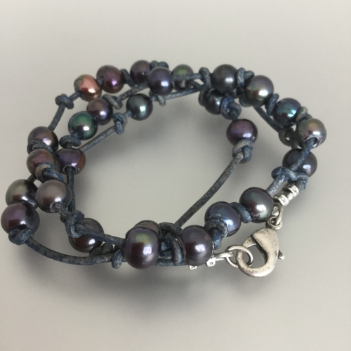 Tuesday July 24th – Ocean Treasure Wrap Bracelet: Beginner Level - This super easy bracelet mixes pearls and knotted leather - make this a single, double or triple wrap. Single $15.00 ($13.79 + $1.21) Double $23.00 ($21.15 + $ 1.85) Triple $31.00 ($28.51 + $2.49)