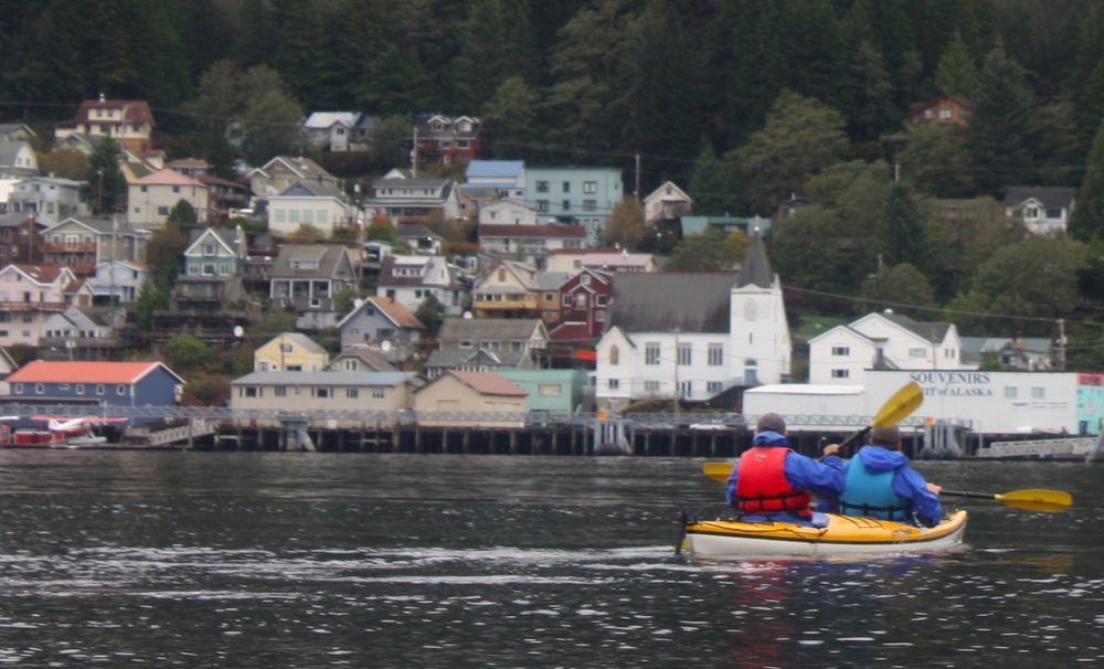 Kayakers head back to Ketchikan from Pennock Island