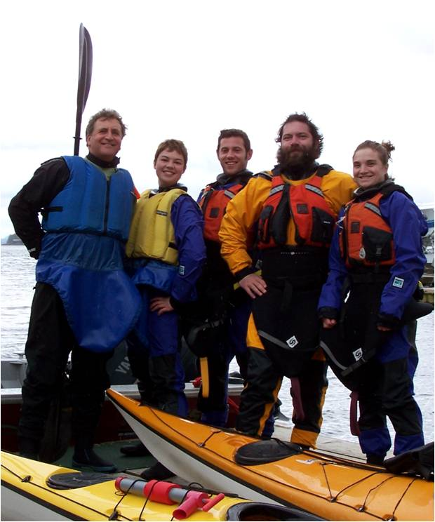 We wear Kokatat dry-suits for our lessons on the ocean.