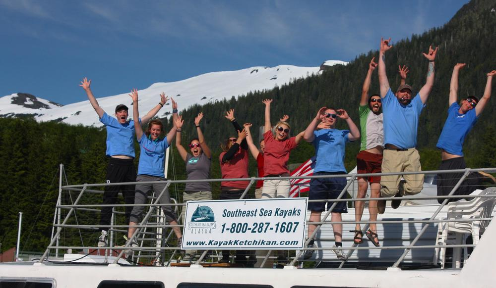 2012 Guides on the floating office.