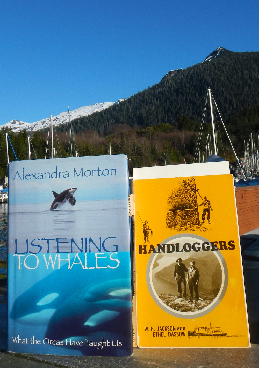 Two of my favorite books ever! Alexandra Morton's  Listening to Whales: What the Orcas Have Taught us  and W.H Jackson's  Handloggers.