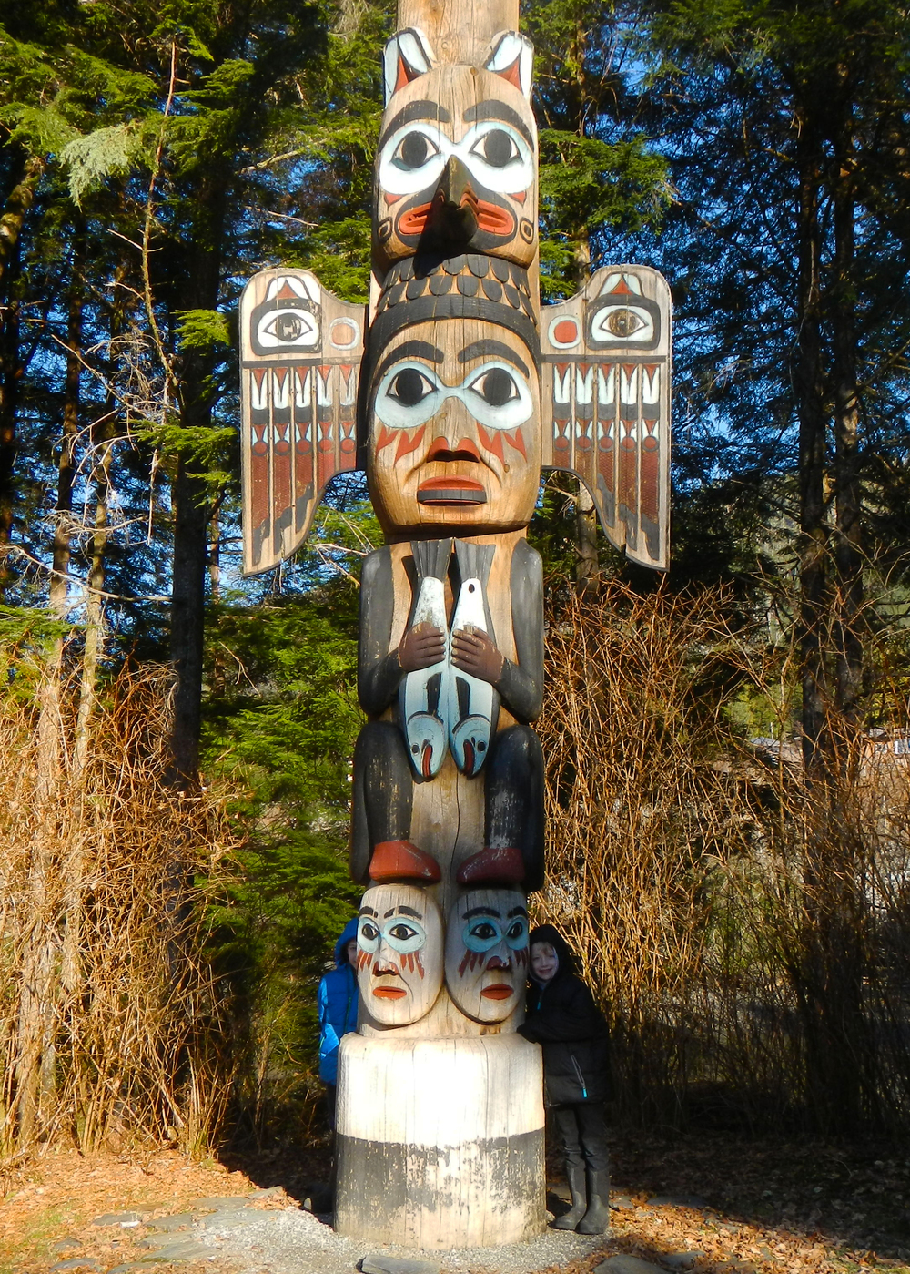 Totem Bight is a great place to learn about totem poles and native culture and check out the beach area with the kids.