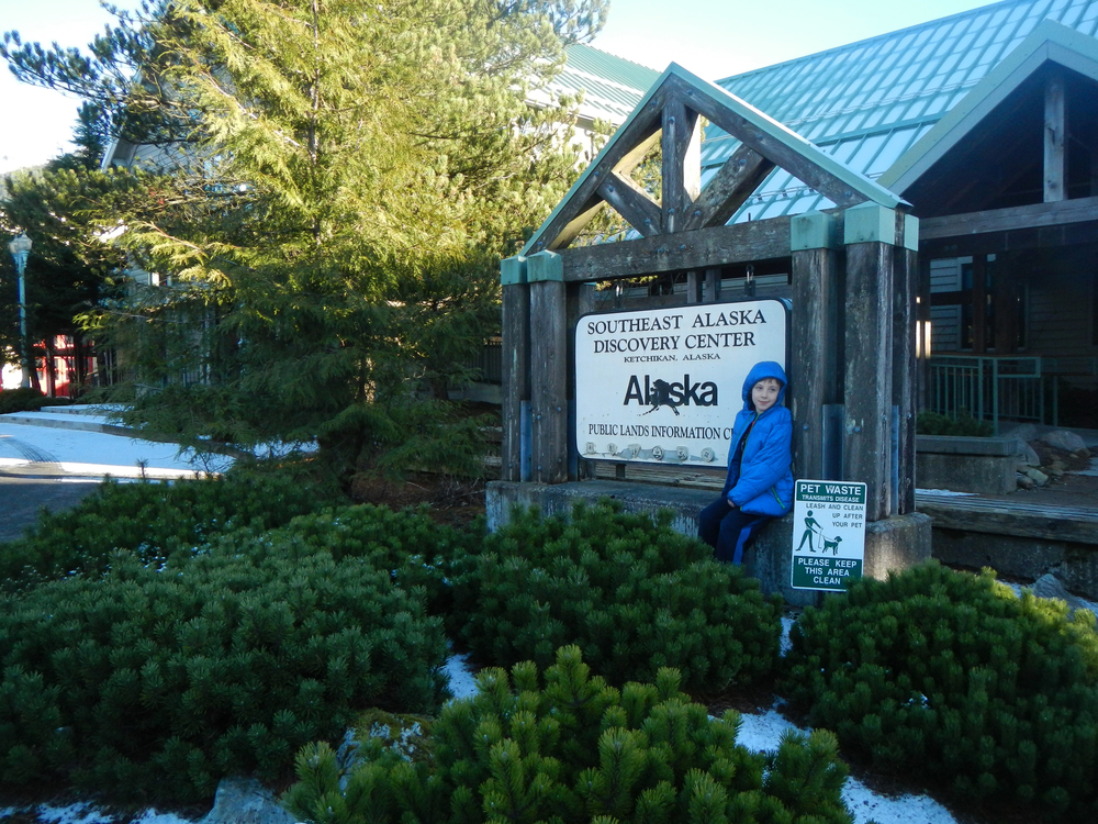 The Southeast Alaska Discovery Center is a great refuge on rainy days. Ask at the front counter for activities for kids.