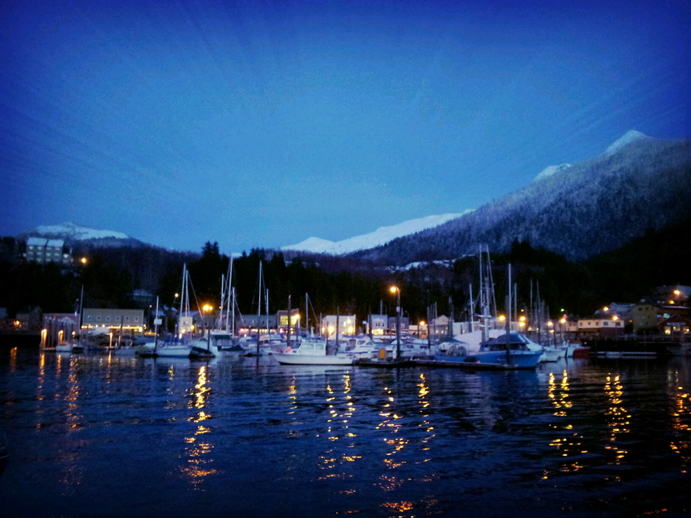 Dark, damp, chilly and gloomily beautiful: winter in Ketchikan, Alaska.