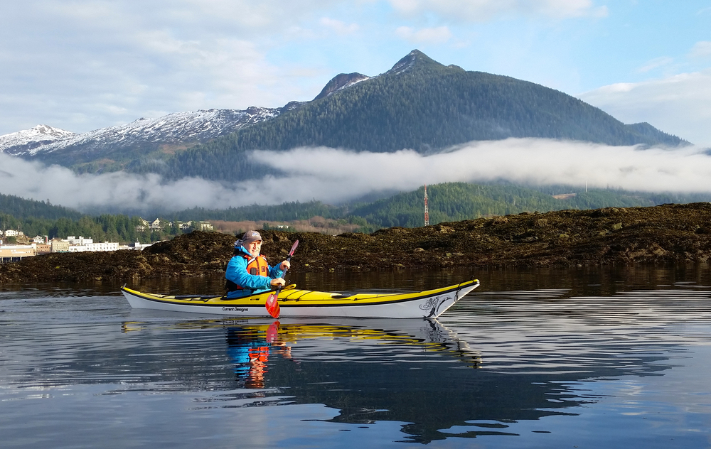 Greg paddling near Ketchikan, Alaska